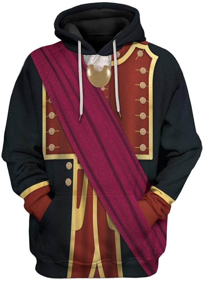George Washington 2 Black Red Historical Figure Unisex 3D Printed Hoodie Pullover Sweatshirt
