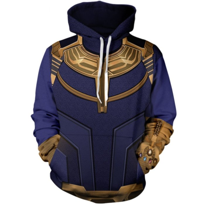 Avengers Movie Thanos Cosplay Unisex 3D Printed Hoodie Sweatshirt Pullover