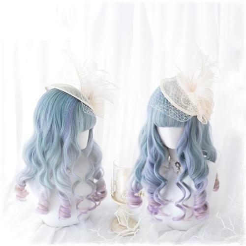 Blue Purple Ombre Long Wig