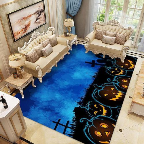 Halloween Ghost Bloody Hand Pattern Water Absorption Area Rug