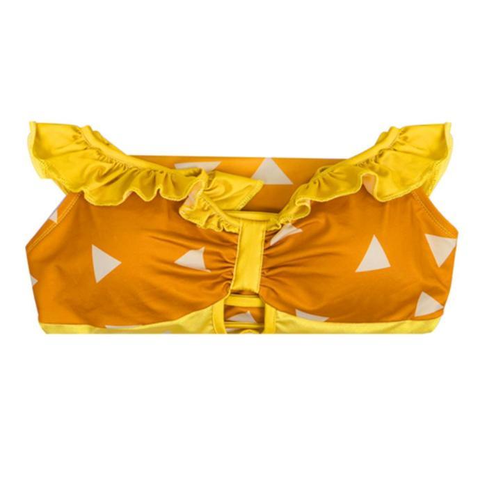 Demon Slayer Agatsuma Zenitsu  Swimwear Outfits Halloween Carnival Suit Cosplay Costume