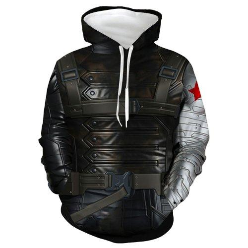 Arrival Avengers Movie Winter Soldier White Wolf Cosplay Unisex 3D Printed Hoodie Sweatshirt Pullover