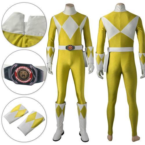 Mighty Morphin Power Rangers Yellow Ranger Cosplay Costume