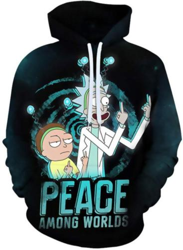 Rick And Morty Anime Unisex 3D Printed Hoodie Pullover Sweatshirt