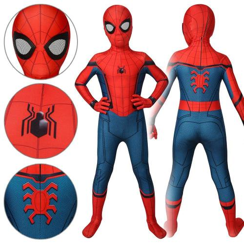 Kids Spider-Man Peter Parker Stark Suit Spider-Man: Far From Home Jumpsuit Cosplay Costume -