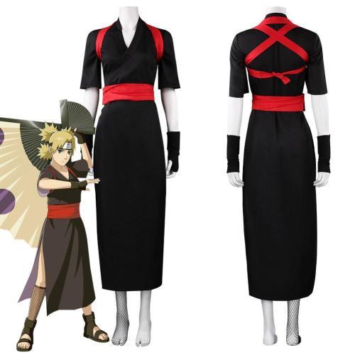 Anime Naruto·Nara Temari Halloween Carnival Suit Cosplay Costume