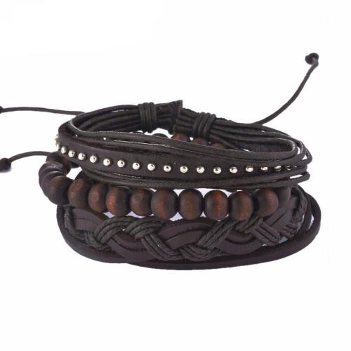Bard Leather & Wood Bracelet