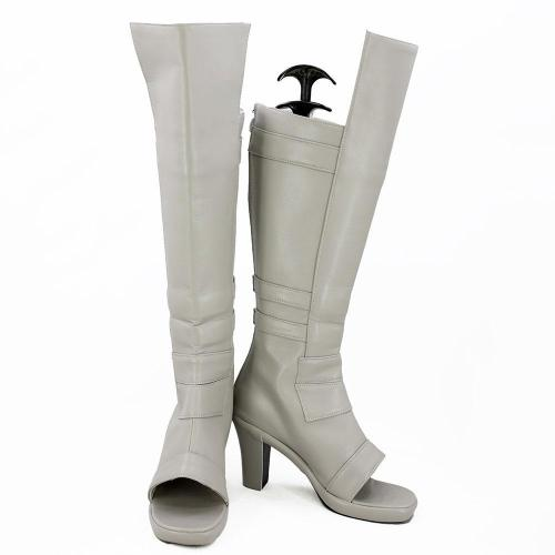 Mei Terumi From Naruto Halloween White Shoes Cosplay Boots