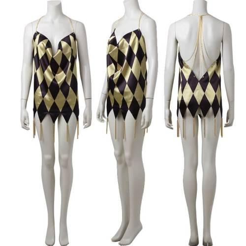 Harley Quinn V Neck Dress Dancer Dress Version Sixth Scale Costume