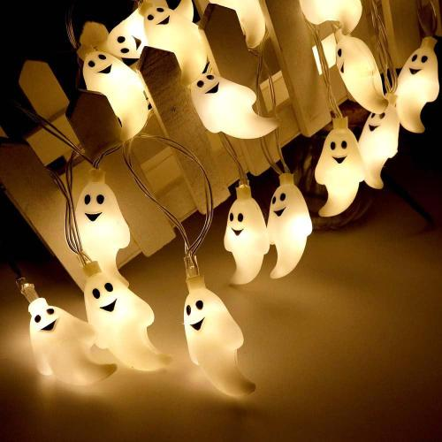 Halloween Funny Cute Led Ghost Shape Hanging Light String
