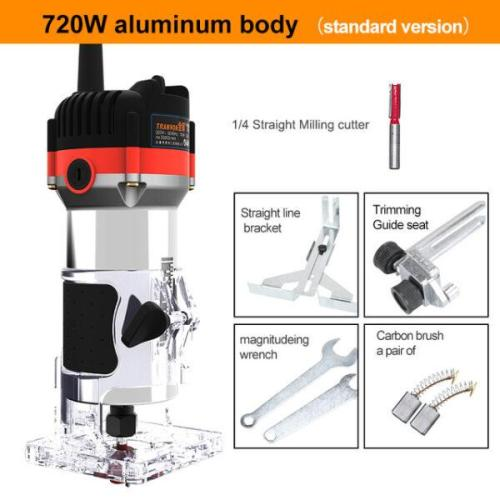 0Rpm Electric Hand Trimmer Router Wood Carving Machine
