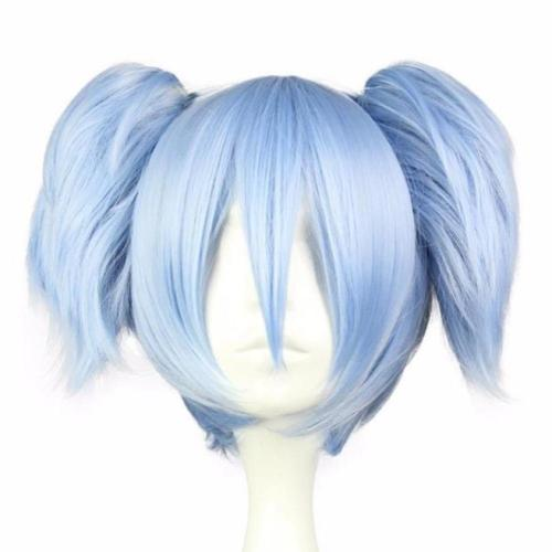 Blue Pigtail Wig