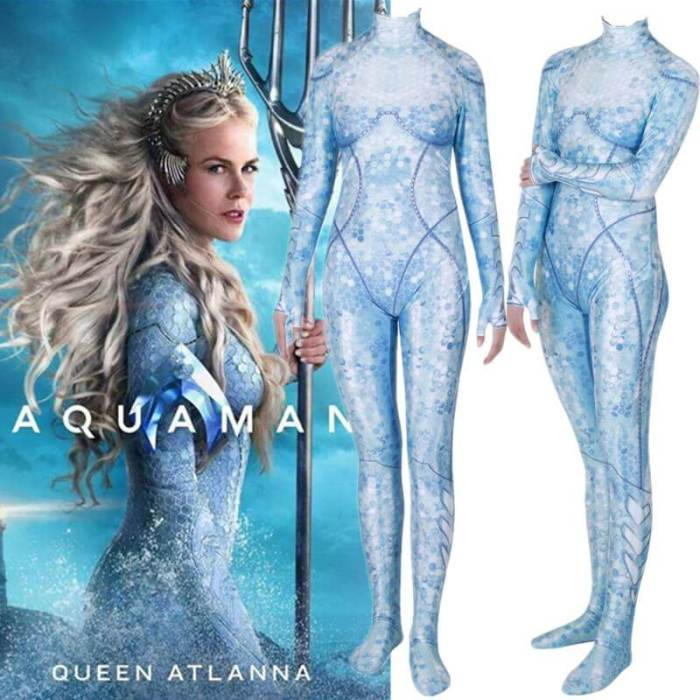 Aquaman Queen Atlanna Cosplay Costume Zentai Bodysuit Suit Jumpsuit