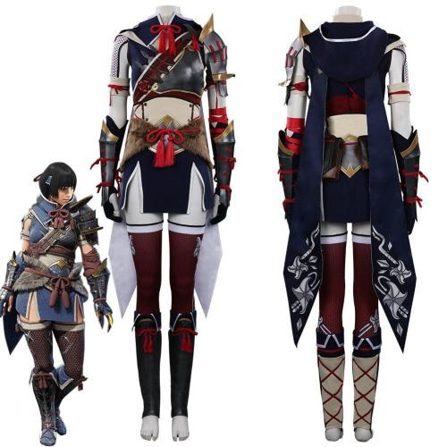 Monster Hunter Rise Mh Rise Women Hunter Outfits Halloween Carnival Suit Cosplay Costume