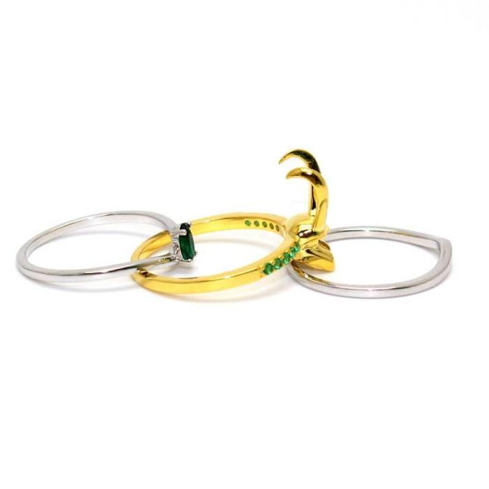 Loki  Helmet Ring Cosplay Jewelry Rings Gifts Halloween Props