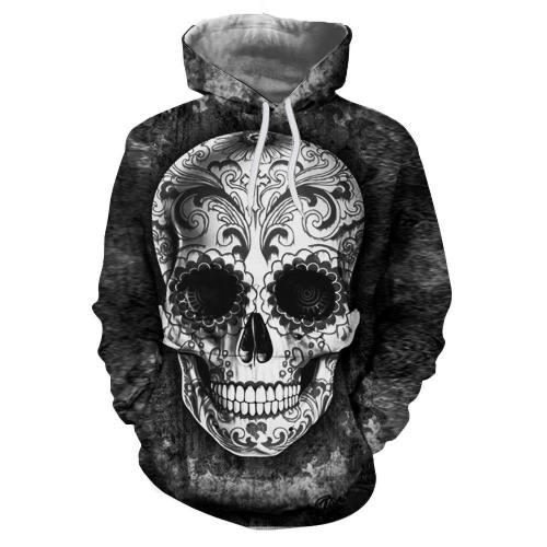 Artistic Skull 3D Sweatshirt, Hoodie, Pullover