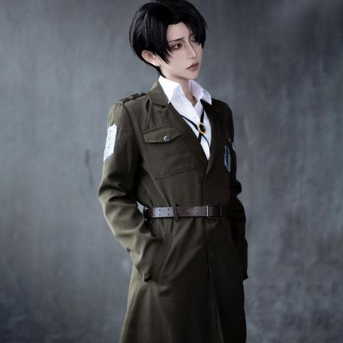 Attack On Titan Final Season Armin Arlert Levi Ackerman Survey Corps Cosplay Costume