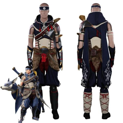 Monster Hunter Rise Mh Rise Men Hunter Outfits Halloween Carnival Suit Cosplay Costume