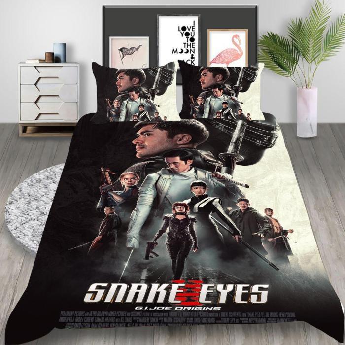 Snake Eyes G.I. Joe Origins Cosplay Bedding Set Duvet Cover Pillowcases Halloween Home Decor