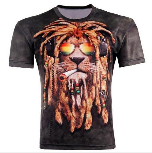 Reggae Lion 3D T-Shirt