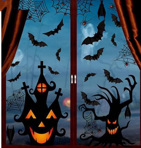 Halloween Decoration Wall Stickers Window Glass Environmental Protection