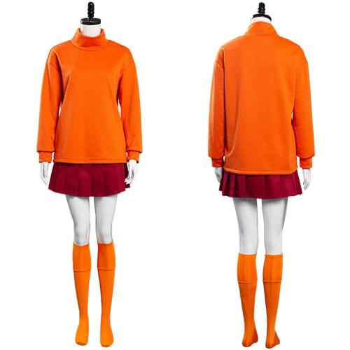 Scooby-Doo Velma Dinkley Uniform Outfits Halloween Carnival Costume Cosplay Costume