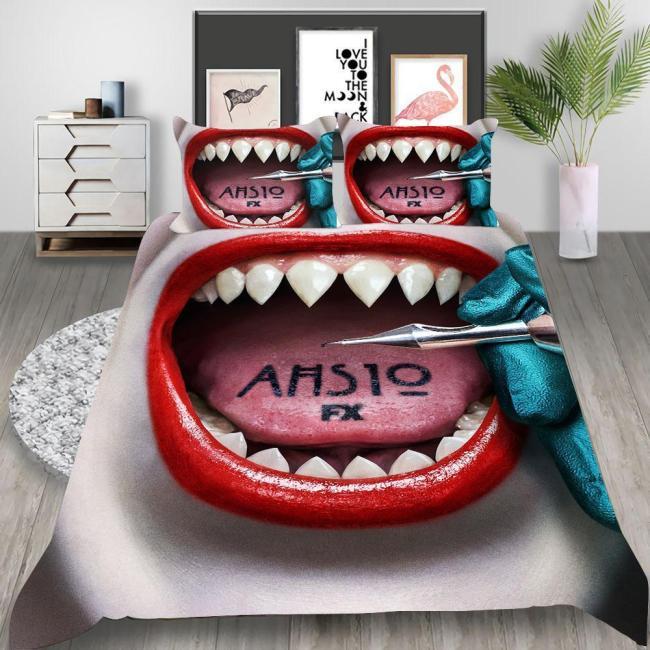 American Horror Story  Double Feature Season Cosplay Bedding Set Duvet Cover Pillowcases Halloween Home Decor