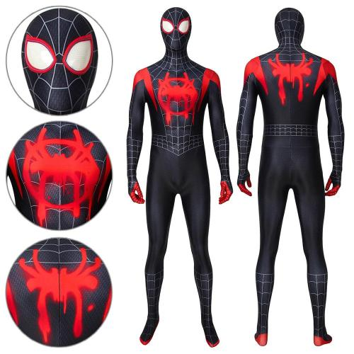 Spider-Man Miles Morales Spider-Man: Into The Spider-Verse Jumpsuit Cosplay Costume -