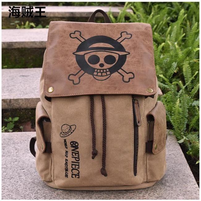 Anime One Piece Cosplay Canvas Backpack Halloween School Bags