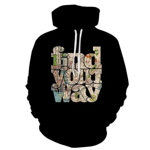 Find Your Way 3D - Sweatshirt, Hoodie, Pullover
