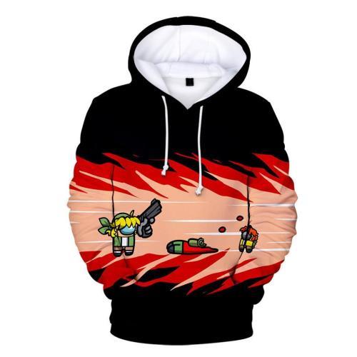 Adult Style-13 Impostor Crewmate Among Us Cartoon Game Unisex 3D Printed Hoodie Pullover Sweatshirt