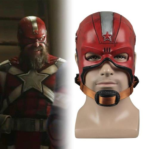 Black Widow Captain Aleksey  Red Guardian Cosplay Mask Halloween Party Helmet