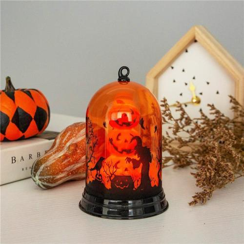Halloween Party Pumpkin Witch Pattern Horror  Decor Light Props