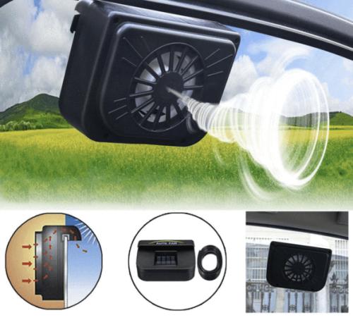 Solar Power Auto Cooling Fan