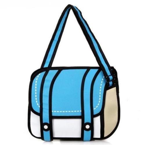 2D Cartoon Messenger Bag