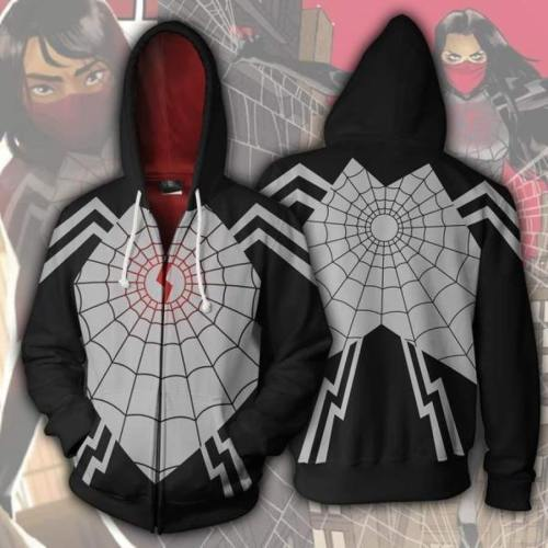 Amazing Spiderman Hero Spider Web Movie Unisex 3D Printed Hoodie Sweatshirt Jacket With Zipper