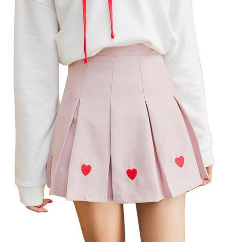 Pleated Heart Skirt