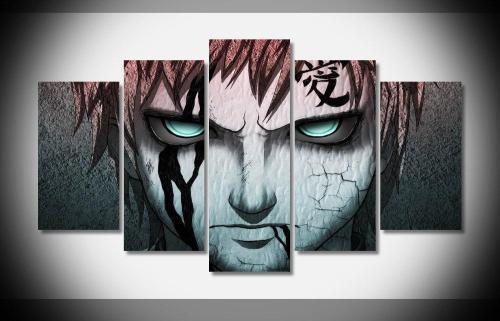 Gaara Love Artistic 5 Piece Canvas