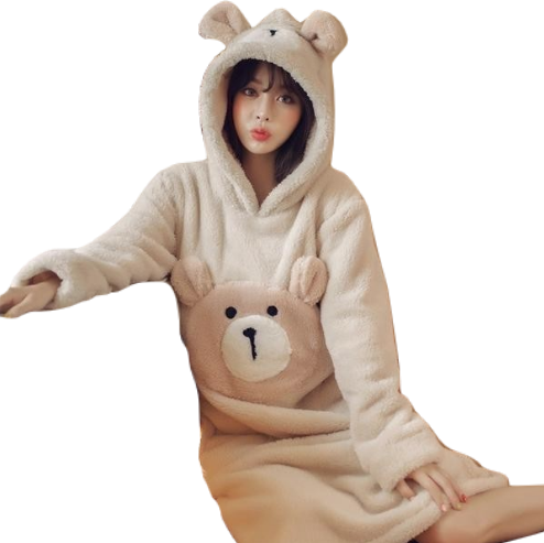 Baby Bear Furry Nightgown