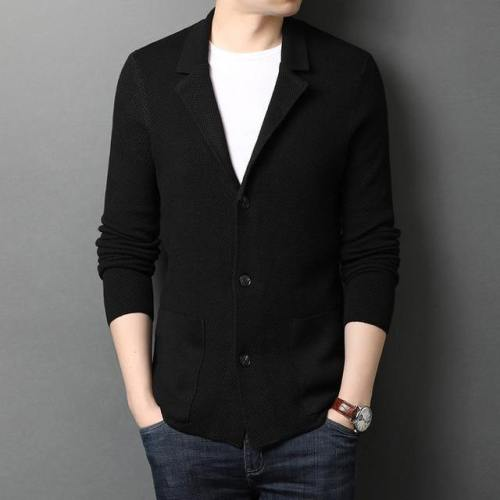 Men'S Wool Knit Business Casual Cardigan