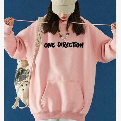 Letters Sweatshirt Plus Size Hoodie  Harry Styles Graphic One Direction Merch Harajuku Pullover