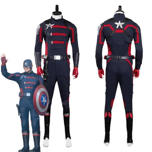 The Falcon And The Winter Soldier John Walker Captain America Outfits Halloween Carnival Suit Cosplay Costume