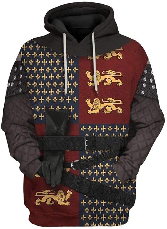 Henry V Historical Figure Unisex 3D Printed Hoodie Pullover Sweatshirt