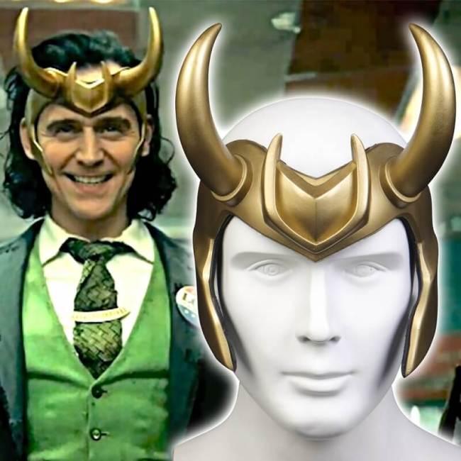 Loki  Pvc Crown Horns Helmet Halloween Cosplay Costume Props