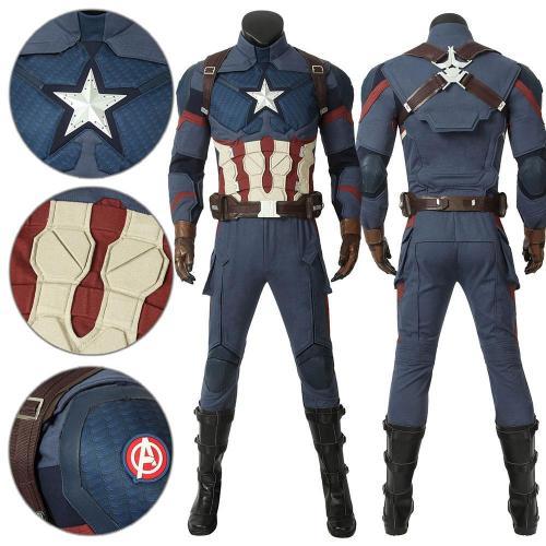 Captain America Steven Rogers Avengers 4 Endgame Cosplay Costume