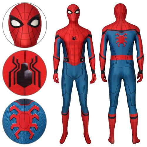 Spider-Man Peter Parker Stark Suit Spider-Man: Far From Home Jumpsuit Cosplay Costume -