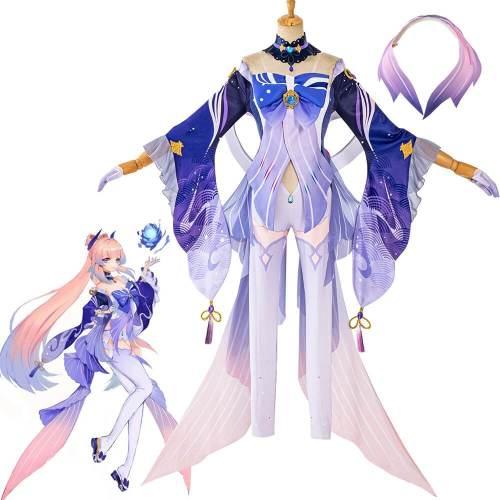 Genshin Impact Sangonomiya Kokomi Cosplay Costumes Halloween Outfits