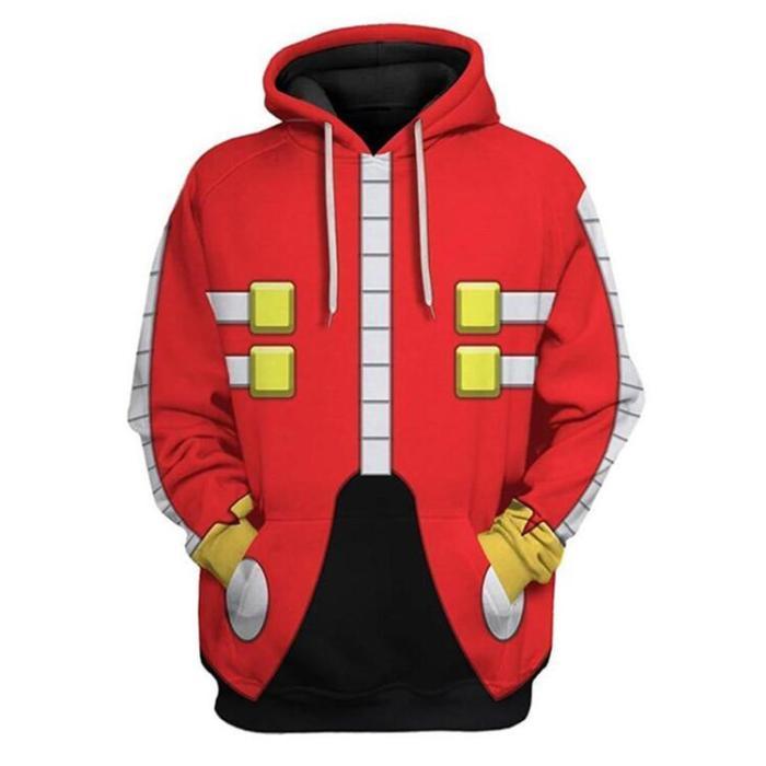 Sonic The Hedgehog Movie Dr. Eggman Unisex 3D Printed Hoodie Sweatshirt Pullover
