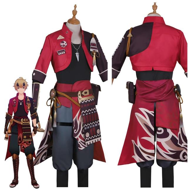 Genshin Impact Thoma Outfits Halloween Carnival Suit Cosplay Costume