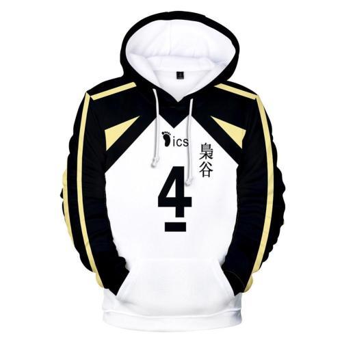Unisex Bokuto Koutarou Cosplay Hoodies Haikyuu!! Pullover 3D Print Jacket Sweatshirt